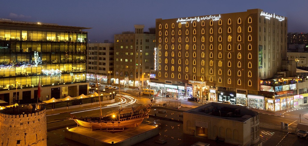Fachada Arabian Courtyard Hotel & Spa Bur Dubai